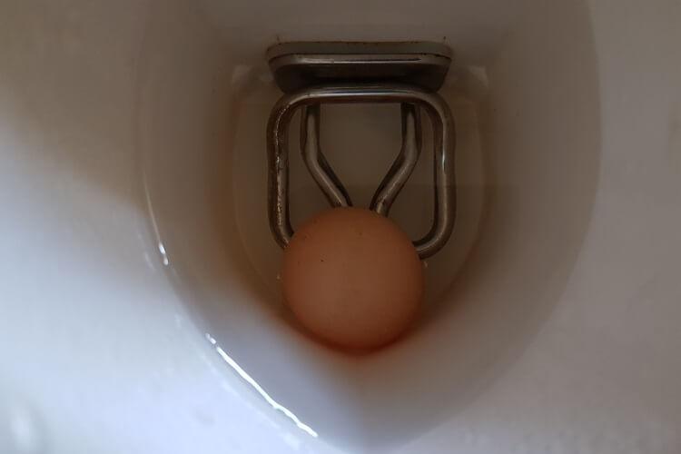 Ei im Wasserkocher